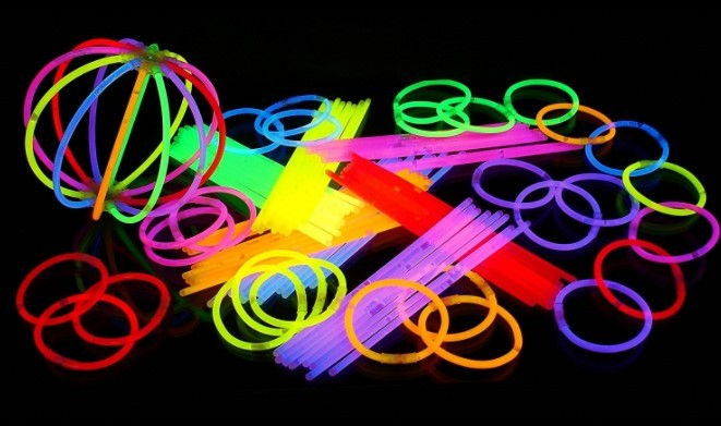 tube luminescent light painting