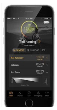 application smartphone mypetzl light